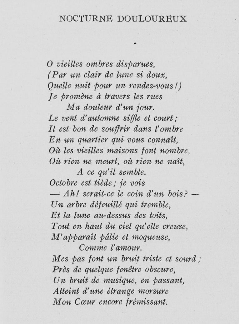 poesie xxeme