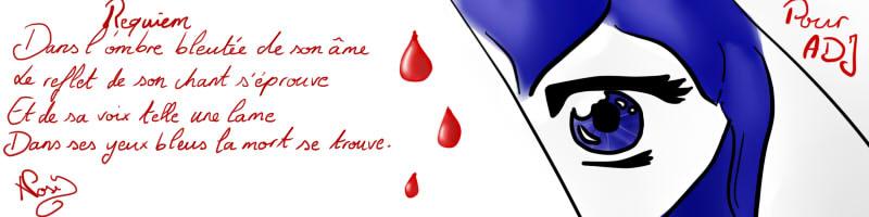 poesie yeux bleus